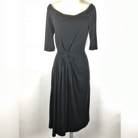 Boden Dresses Wrap Black Dress Uk 10l Us 6l Poshmark
